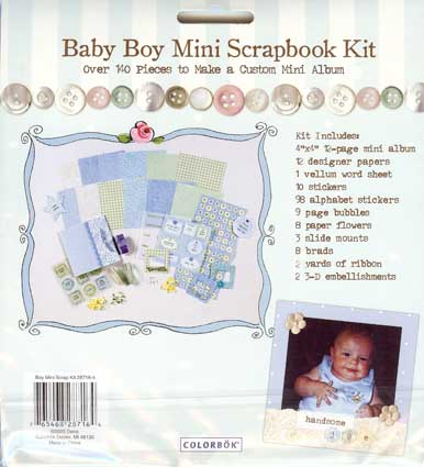 boy mini scrapbook album kit colorbok